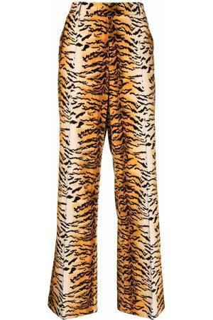 Philosophy Di Lorenzo Serafini Animal-print wide trousers