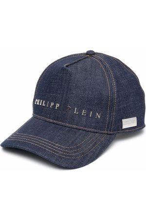 Philipp Plein Logo-plaque denim baseball cap
