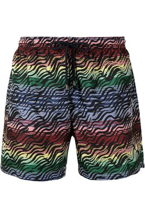 Missoni Mare Rainbow-stripe swim shorts