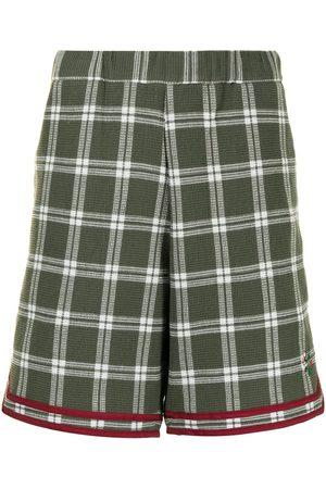 CLOT Muži Bermudy - Checked fleece basketball shorts