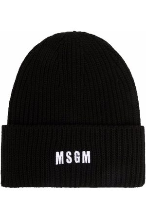 MSGM Logo-embroidered beanie
