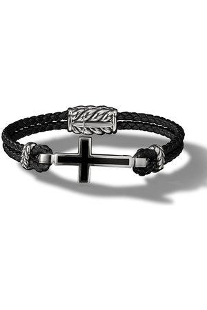 David Yurman Cross Station leather bracelet