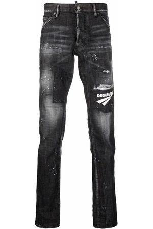 Dsquared2 Distressed logo patch jeans
