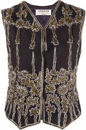 A.N.G.E.L.O. Vintage Cult 1990s V-neck sequinned waistcoat
