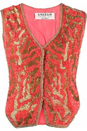 A.N.G.E.L.O. Vintage Cult 1980s V-neck sequinned waistcoat