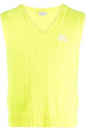 Etro Muži Vesty - Embroidered-logo knit vest