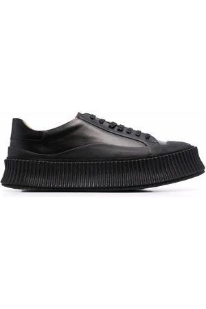 Jil Sander Ženy Na platformě - Leather platform sneakers