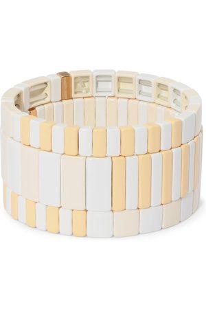 Roxanne Assoulin Flat White bracelet set
