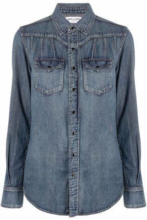 Saint Laurent Classic-collar denim shirt
