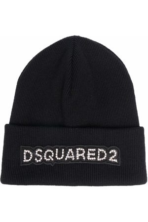Dsquared2 Wool logo patch beanie