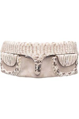 Gianfranco Ferré Pre-Owned 2000s detachable pockets snakeskin effect belt
