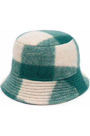 Isabel Marant Logo-embroidered checked bucket hat