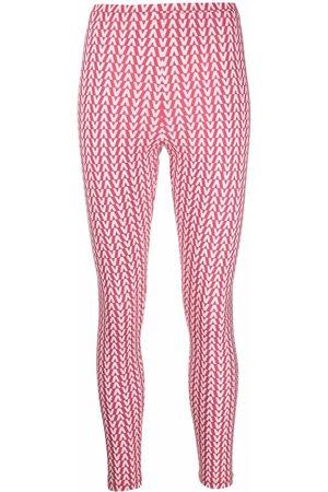 Valentino All-over logo-print leggings
