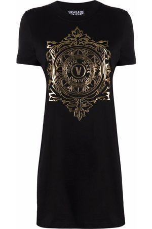 VERSACE V-Emblem T-shirt dress