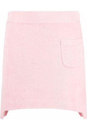 Helmut Lang Asymmetric towelling mini skirt