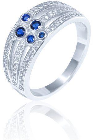 JVD Luxusní stříbrný prsten s modrými zirkony SVLR0341XH2BM 56 mm