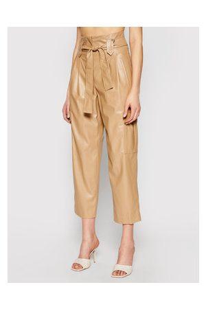 TwinSet Ženy Kožené kalhoty - Kalhoty z imitace kůže