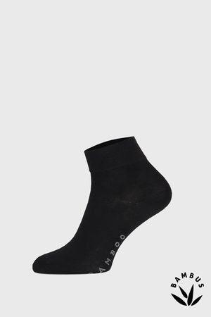 Gino Černé bambusové ponožky středně vysoké