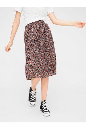 Pieces Červeno-modrá květovaná sukně Mirabelle