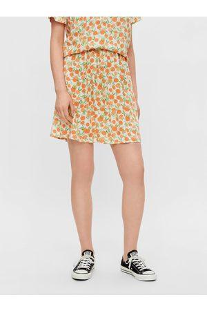 Pieces Oranžovo- vzorovaná sukně Nya