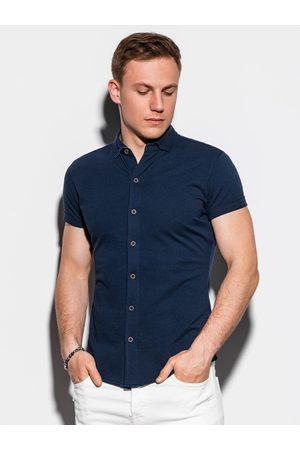 Ombre Clothing Pánská košile s krátkým rukávem K541 - námořnická