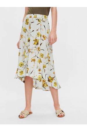 Pieces Květovaná midi sukně Lillian