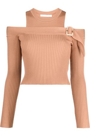 JONATHAN SIMKHAI Mandy ribbed-knit off-shoulder sweater