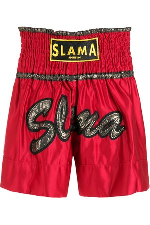 AMIR SLAMA Embroidered Luta shorts