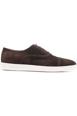santoni Suede Oxford shoes