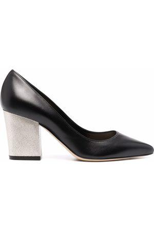 Sergio Rossi Nappa Seventy block-heel pumps