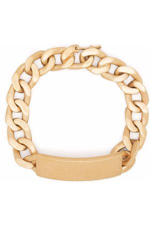 Maison Margiela Brushed-finish curb chain bracelet