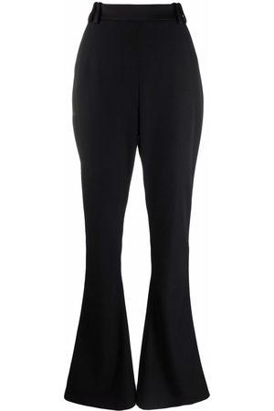 Balmain Side-stripe flared trousers