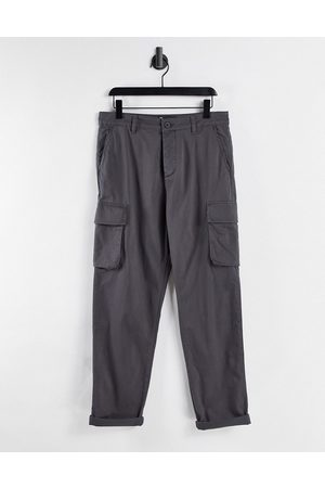 ASOS DESIGN Muži Kapsáče - Relaxed cargo trousers in washed black
