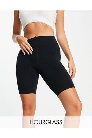 ASOS 4505 Ženy Kraťasy - Hourglass icon booty legging short in cotton touch-Black
