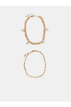 Pieces Sada dvou náramků ve zlaté barvě Maise