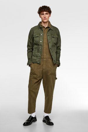 Zara Muži Džínové bundy - Džínová bunda basic