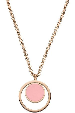 Tamaris Růžově zlacený náhrdelník Wendy s růžovým přívěskem TJ