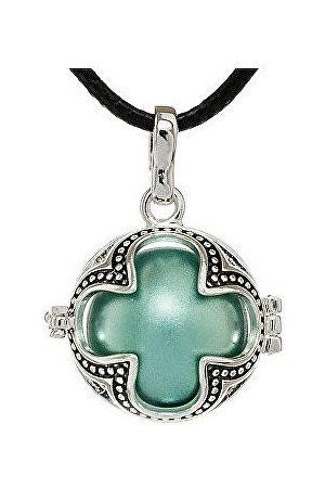 MUMMY BELL Dámský náhrdelník metalická Rolnička Čtyřlístek K
