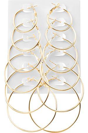 Troli Ženy Set - Sada pozlacených kruhových náušnic Gold (