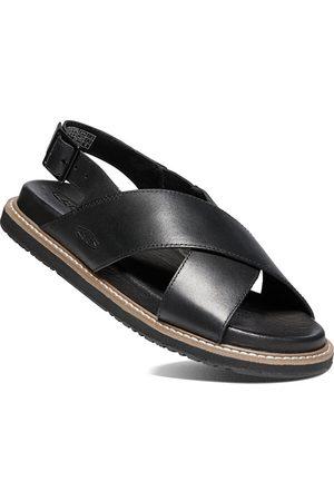 Keen Dámské kožené sandály LANA CROSS STRAP SANDAL 1022584 black/black 38