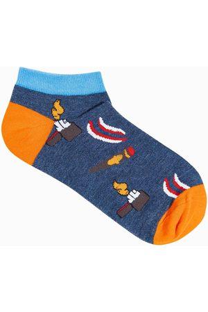 Ombre Clothing Pánské ponožky U174 - námořnická modrá