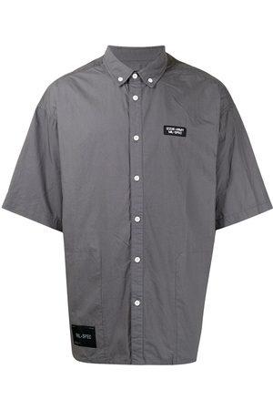 Izzue Muži S krátkým rukávem - Logo-patch short-sleeve cotton shirt
