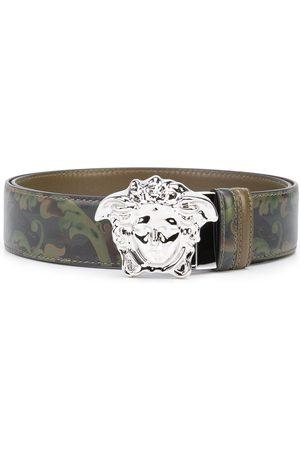 Versace La Medusa logo-buckle Barocco-print belt