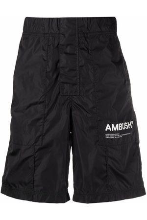 AMBUSH NYLON WORKSHOP SHORT PANTS BLACK TOFU