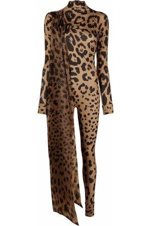 Atu Body Couture Ženy Overaly dlouhé - Leopard-print bodycon jumpsuit