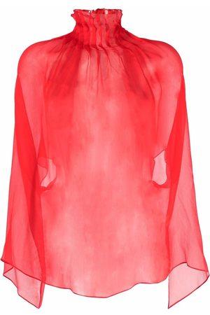 Atu Body Couture Ženy Tuniky - Sheer pleated silk tunic