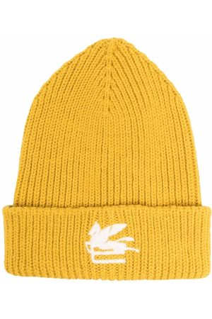 Etro Logo-patch knitted beanie