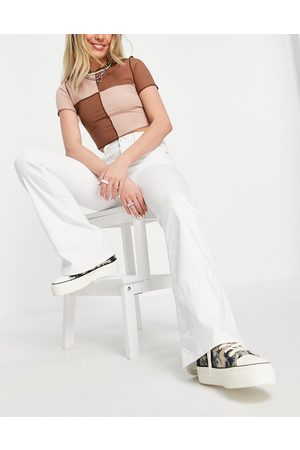 Topshop Ženy Bootcut - Jamie flared jeans in white