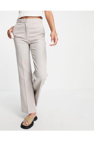 ASOS Ultimate straight leg trouser in pinstripe-Multi