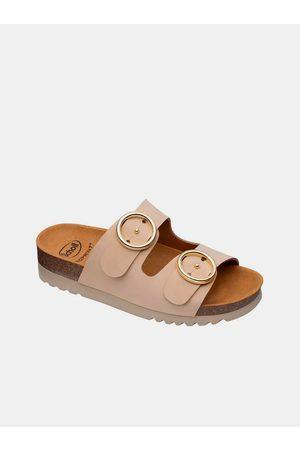 Scholl Béžové dámské pantofle Malibu